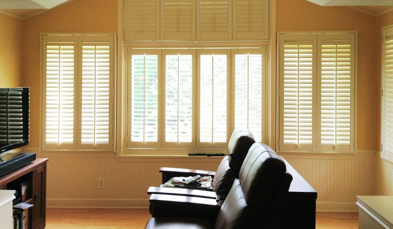 Shutters in Theater Room